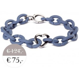 XSA005 Blue bracelet with silver clasp  heart