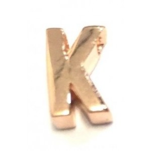 Letter K pinkplated Imotionals 06K