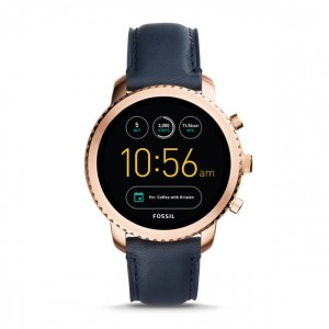 FTW4002 Fossil gen 3 smartwatch - q explorist navy leather