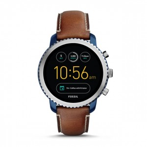 FTW4004 Fossil gen 3 smartwatch - q explorist luggage leather