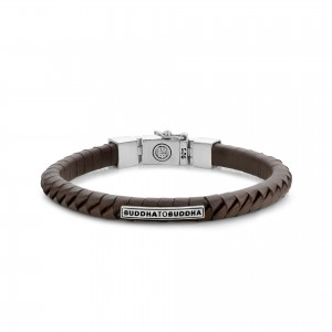 162BR Buddha To Buddha Komang Small Leather Brown armband