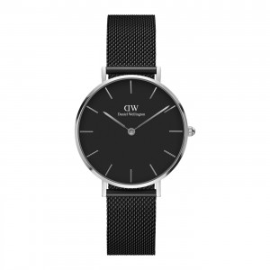 DW00100202 Daniel Wellington watch Classic Petite Black Ashfield Sterling 32 mm