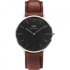 DW00100130 Daniel Wellington watch Classic Black Sterling St Mawes 40 mm