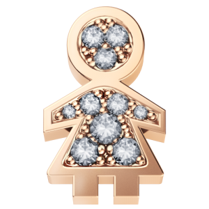 DCHF3443.003 Elements DonnaOro rose gold little girl with diamond