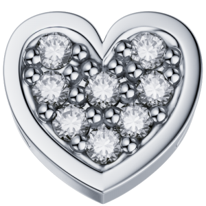 DCHF3447.003 Elements DonnaOro white gold heart with diamond