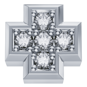DCHF3448.002 Elements DonnaOro white gold cross with diamond