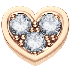 DCHF3850.003 Elements DonnaOro rose gold heart with diamond