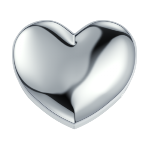 DCHF3929 Elements DonnaOro white gold heart