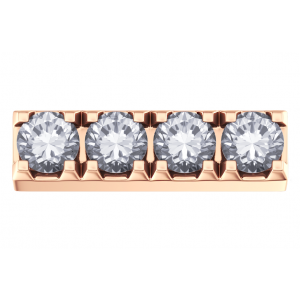 DCHF4125.004 Elements DonnaOro rose gold claw with 4x diamond