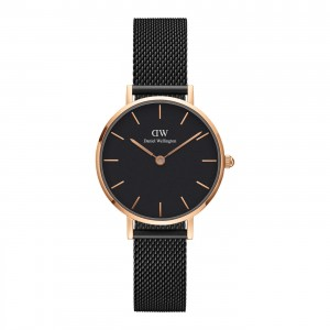 DW00100245 Daniel Wellington watch Classic Petite Black Ashfield 28 mm