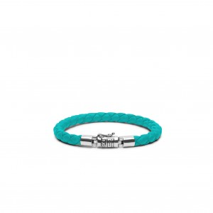 J545AQ Buddha To Buddha Ben Round Leather Aqua armband