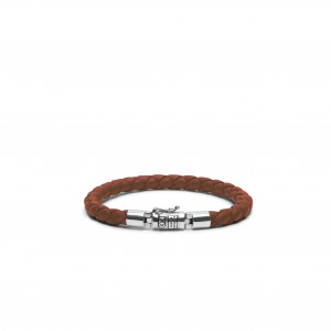 J545CO Buddha To Buddha Ben Round Leather Cognac armband