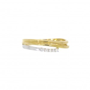 GR3001BB/53 ring bicolor goud 18 kt