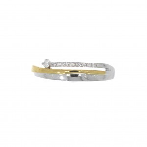 GR3364BB/53 ring bicolor goud
