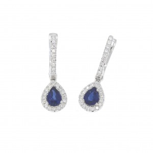 GO2635WSB white gold 18 kt Earrings with diamonds