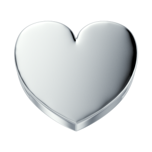 DCHF3847 Elements DonnaOro white gold heart