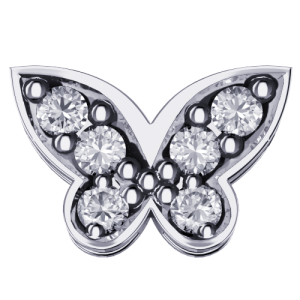 DCHF6531.002 Elements DonnaOro white gold butterfly Diamond