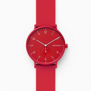 SKW6512 Skagen Aaren Kulor red Silicone 41mm watch
