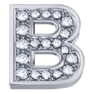 DCHF3319B.002 Elements DonnaOro white gold Letter B with diamond