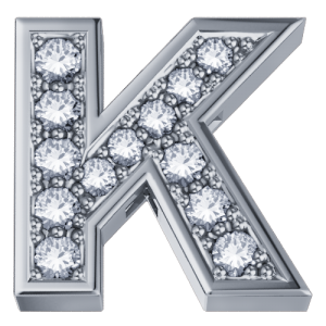 DCHF3319K.002 Elements DonnaOro white gold Letter K with diamond