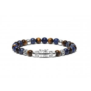 189MS Buddha To Buddha Spirit Bead Mini Mix Sodalite Tigereye armband