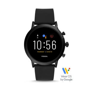 FTW4025 Fossil Gen 5 The Carlyle HR Black silicone