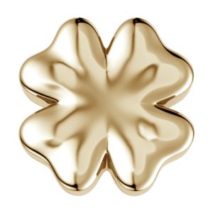DCHF7436 Elements DonnaOro yellow gold four leaf clover