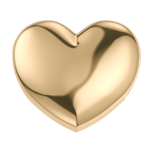 DCHF7437 Elements DonnaOro yellow gold heart