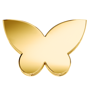 DCHF7438 Elements DonnaOro yellow gold butterfly