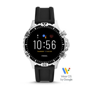 FTW4041 Fossil Gen 5 Montre connecté Garrett HR Black silicone