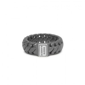 542BRS Bague Buddha To Buddha Ben Small Black Rhodium Silver