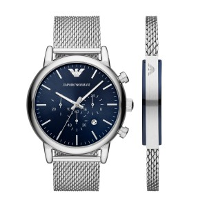 AR80038 Armani Luigi watch and bracelet giftbox