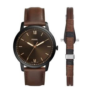 FS5557SET Montre Fossil THE MINIMALIST 3H + bracelet