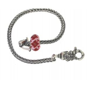 TSA18R-8 Trollbeads Art to Go Red/Pink Unique actie armband
