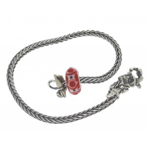 TSA18R-16 Trollbeads Art to Go Red/Pink Unique actie armband