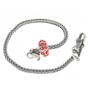 TSA18R-18 Trollbeads Art to Go Red/Pink Unique actie armband