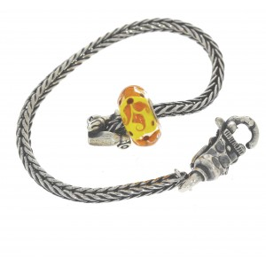 TSA18Y-4 Trollbeads Art to Go Unique Yellow/Brown actie armband