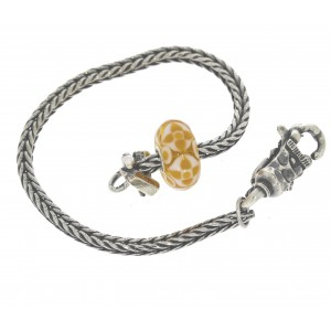 TSA18Y-5 Trollbeads Art to Go Unique Yellow/Brown actie armband