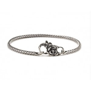 TAGBO-01315 Trollbeads silver Bracelet with rose lock