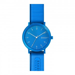 SKW6602 Skagen Aaren Kulor Blue Silicone 41mm watch