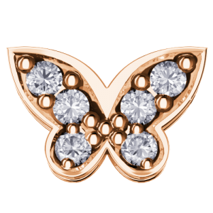 DCHF6562.005 Elements DonnaOro pink gold butterfly Diamond