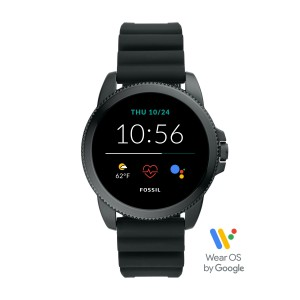 FTW4047 Fossil Gen 5E Montre connecté Steeler HR Black silicone