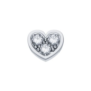 DCHF3849.003 Elements DonnaOro white gold heart with diamond