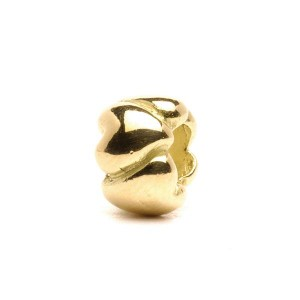 taube-00065 Trollbeads Hearts,small,Gold